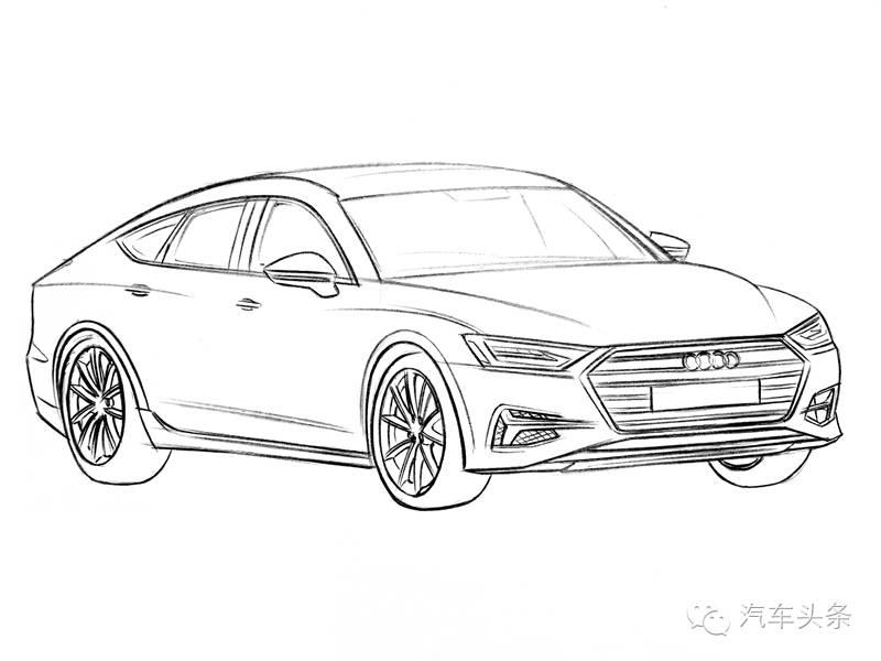 全新奥迪a7效果图 照搬概念车设计风格_凤凰网汽车