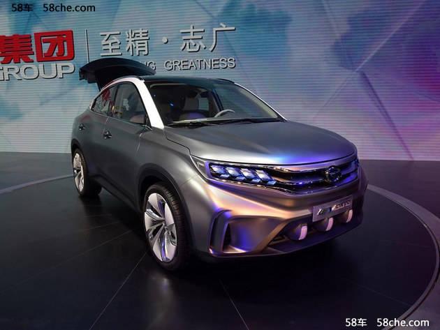 其外形风格或将借鉴2015年广州车展发布的传祺ev coupe概念车的设计图片