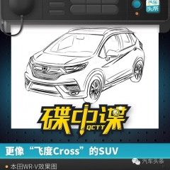 "更像""飞度Cross""的SUV 本田WR-V效果图"