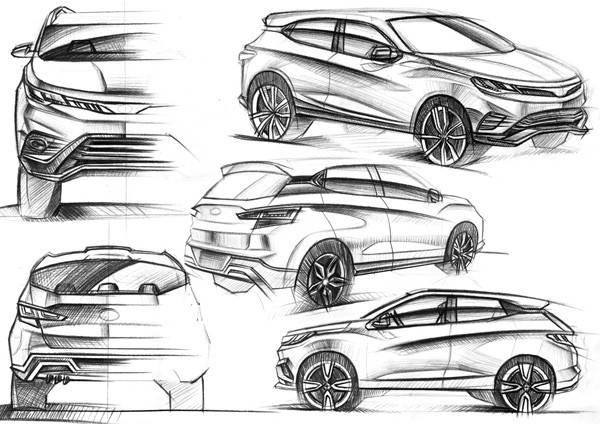 """东南DX3 效果渲染图 宾法擅长造型语言,东南汽车了解中国消费者的审美需求,东南DX3在两者之间做了一个完美的融合,意式设计与中式意境的碰撞,衍生了DX3""""势、动、力""""的设计亮点。"""