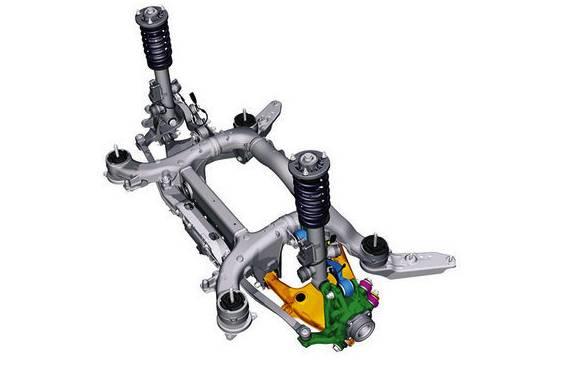 宝马5系与7系上配备的后轮主动转向系统 在低于60km/h的速度行驶过程中,这套主动转向系统能够让后轮向前轮相反的方向扭转2.5度,这也使得转向更加轻便灵活。 当行驶速度高于60km/h的时候,后轮则会与前轮的转向方向完全一致,配合动态阻尼控制(自适应悬挂)和动态防倾杆,在减少后排乘客晃动感的同时也大大提高了高速行驶中的安全性。 相信在不久的将来,这项技术会在越来越多的车型上得以使用。