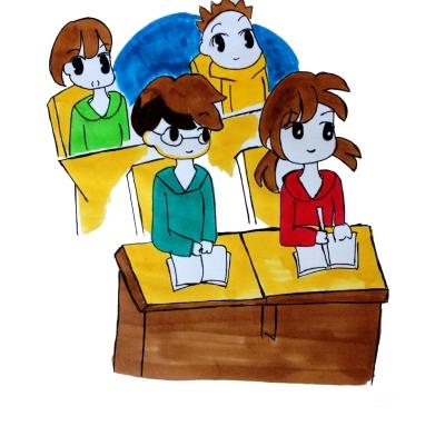再看看周围的同学有的欢呼雀跃,有的愁眉不展.