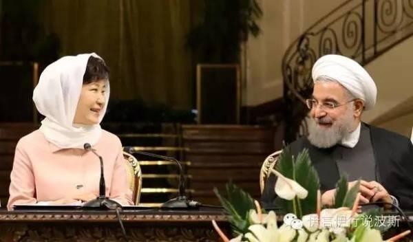 韩国总统朴槿惠与鲁哈尼总统进行
