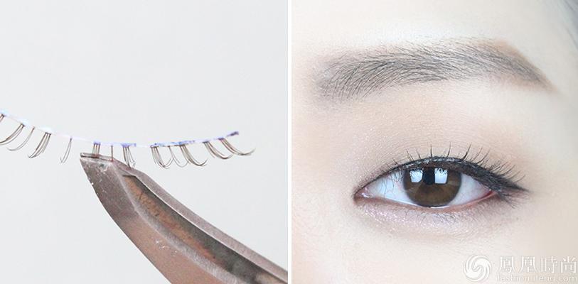 变成允儿同款笑眼妆了.   Step13:允儿的眼线是很自然的下垂式,爱