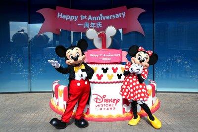 迪士尼旗舰店一周年蛋糕和米奇与米妮