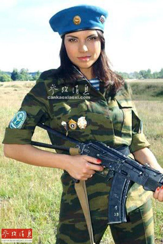 手绘现代女军装