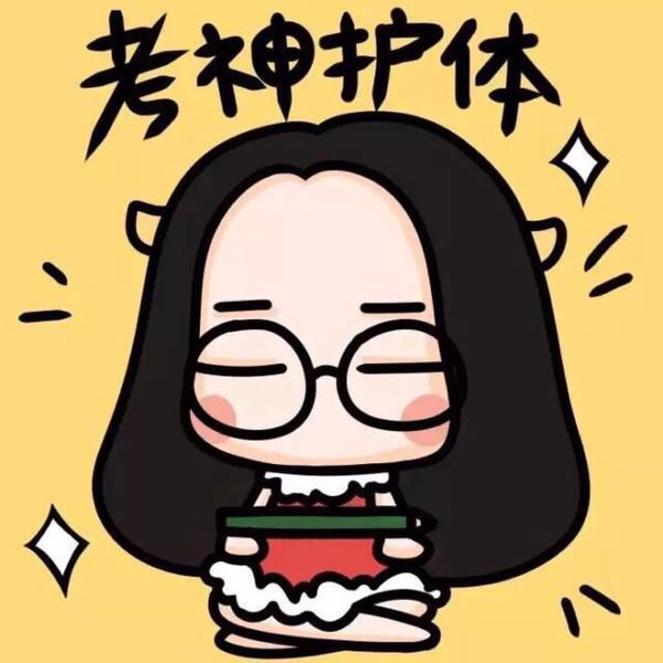 圆脸女孩卡通图片