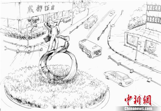 成都90后女大学生手绘成都百年水碾河_凤凰资讯