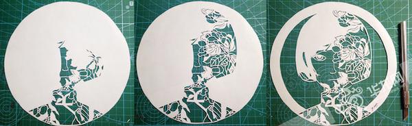 平面纸雕素材人物
