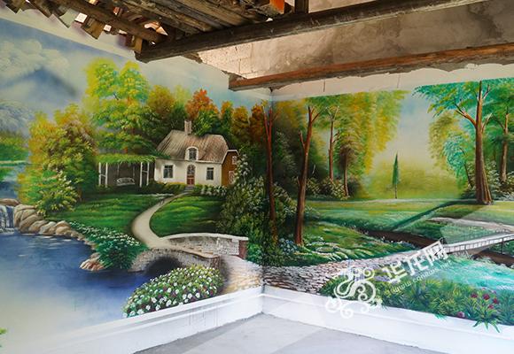 平面墙绘风景素材