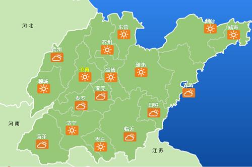 8月11日山东天气情况-山东连续三天最高温达35 周六鲁西北雷雨或阵雨