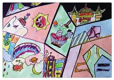 她和三个小伙伴以家乡重庆为主题,各自画了一幅画.旅美画家叶丽回