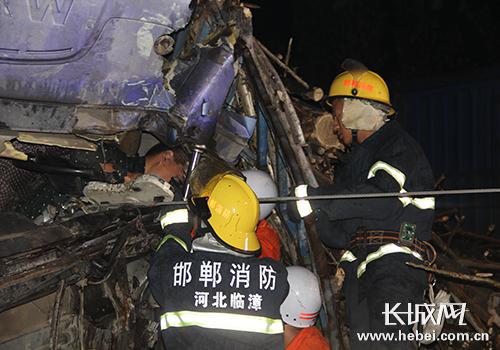 救援现场。图片由邯郸市公安消防支队提供