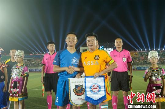 香港明星足球队重庆公益球赛5比1胜