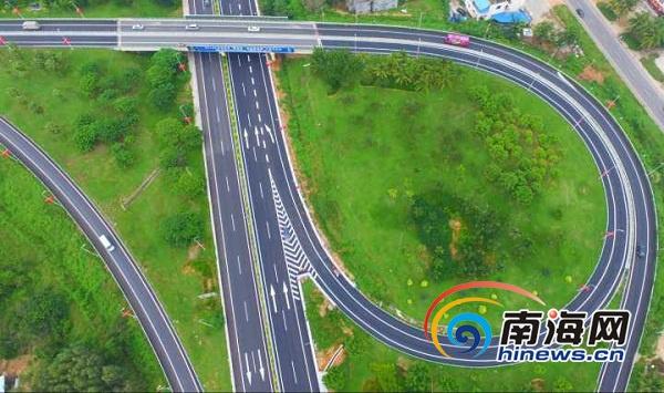 提前探秘海南g98环岛高速公路藤桥立交互通