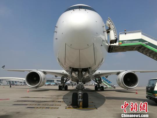 世界最先进远程宽体飞机空客a350首次访问广州
