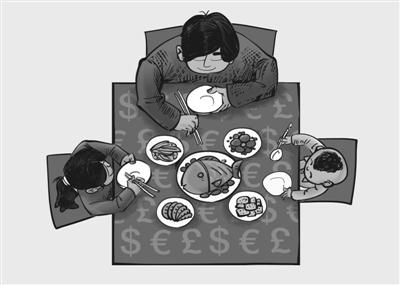 在家庭饭桌上可否谈论金钱图片