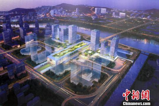 珠海横琴口岸及综合交通枢纽工程开工图片