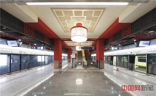北京地铁16号线西苑站装饰装修及照明系统 齐慧敏摄影