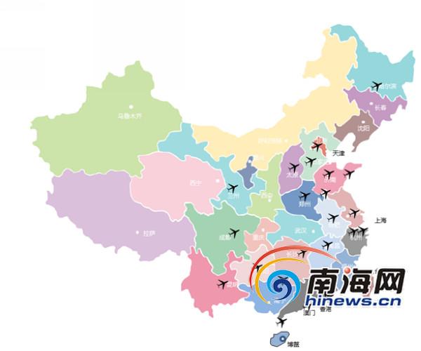 博鳌机场航线图 早在今年3月份,博鳌机场一期工程已完工并投入试运行,成功保障了2016年博鳌亚洲论坛年会的召开以及北京、深圳、广州、贵阳、珠海、昆明、重庆等航线试运行包机航班的执行。根据中央和省委、省政府有关领导指示精神,为进一步满足2017年博鳌亚洲论坛年会期间国外元首大型专机的起降要求及境外嘉宾口岸通关服务保障需求,实现一地办会的目标,博鳌机场于2016年论坛年会保障结束后,按照4E等级标准启动了二期扩建工程,将现有跑道延长至3200米,并新建国际候机楼及相关配套工程。目前二期扩建工程已接近尾声,