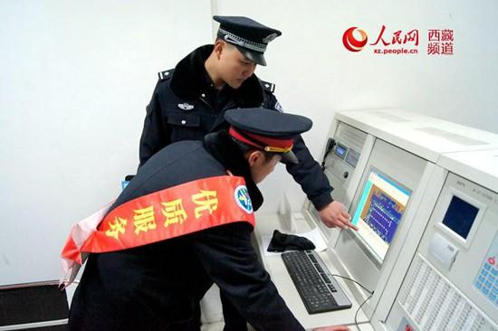 对车站消防远程报警监控设备进行检查