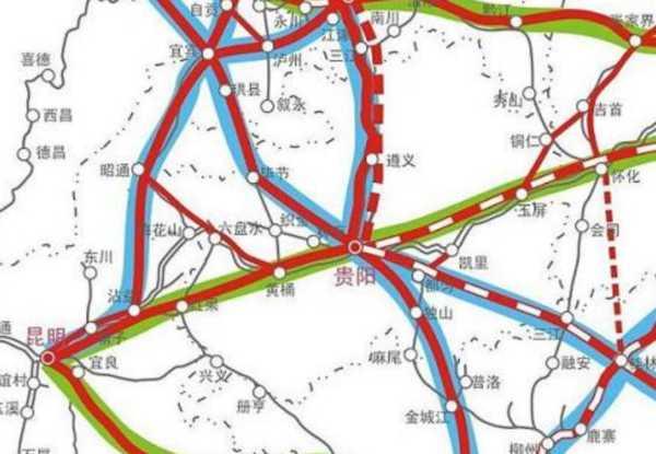 指出,贵州省规划了三环八射城际铁路网,包含贵阳至兴义,都匀至安顺
