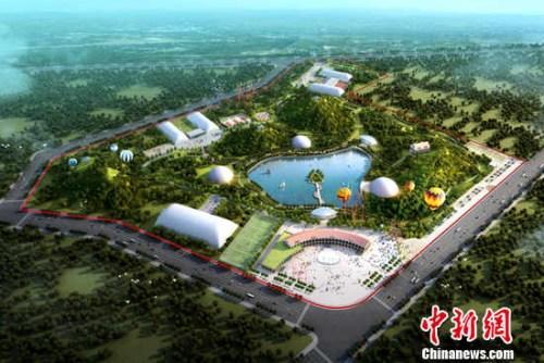 新型体育公园规划示意图