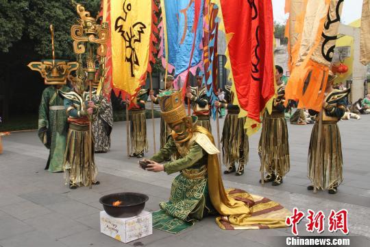 大祭祀仪式彩排现场。 钟欣 摄