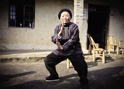 94岁功夫奶奶4岁起习武