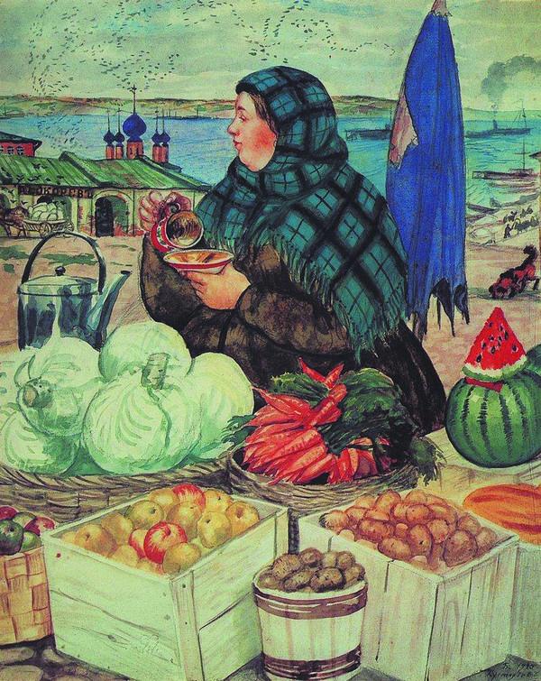 俄罗斯人还在喝茶 20世纪初的俄罗斯绘画图片