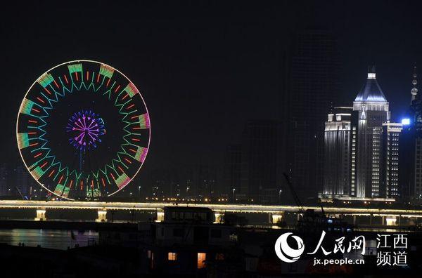 高清图:地球一小时 熄灯后的南昌夜景同样有魅力