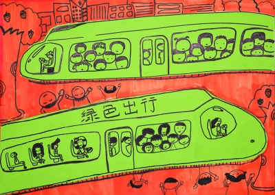 """手绘海报地铁展出 法制晚报讯(记者 周超)    3月30日上午,""""北京市"""