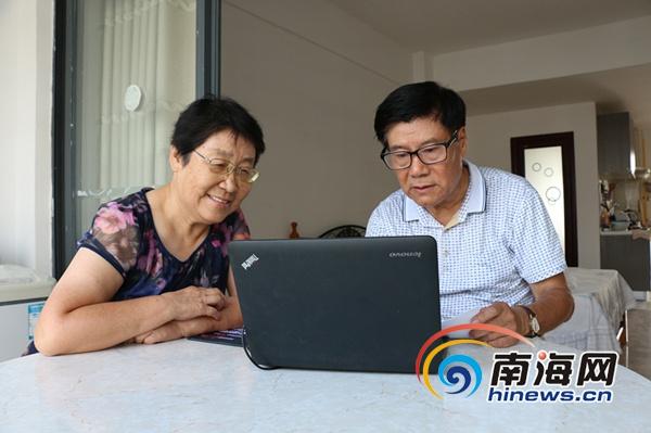 2012年,冯明祥和老伴曲丽媛来到东方养老。南海网记者叶俊一摄