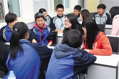 跨学段探索大中小学生 互助成长  高都很快,尽管每周只有半小时的辅