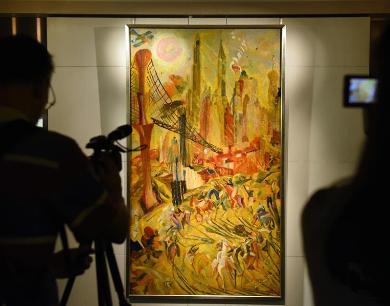 香港苏富比展出本季秋拍估值最高的现代油画