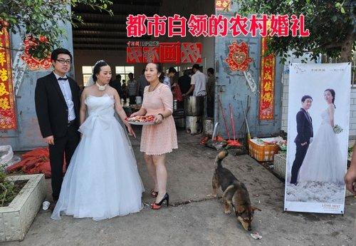 【图刊】都市白领的农村婚礼