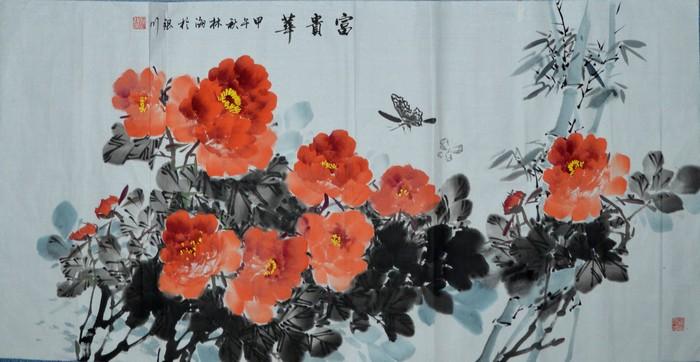 画家林海的花间鸟语