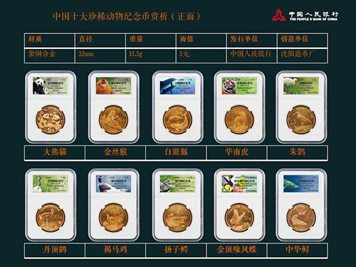 《中国十大珍稀动物纪念币