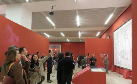 在纪念红军长征胜利八十周年创作展中有卓越书画院家