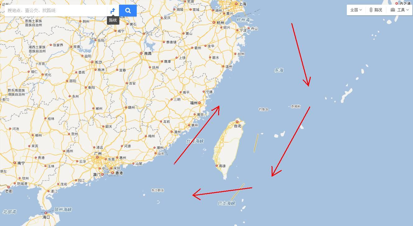 """辽宁舰画了个圈儿,台湾方面""""炸了锅"""" (图)"""