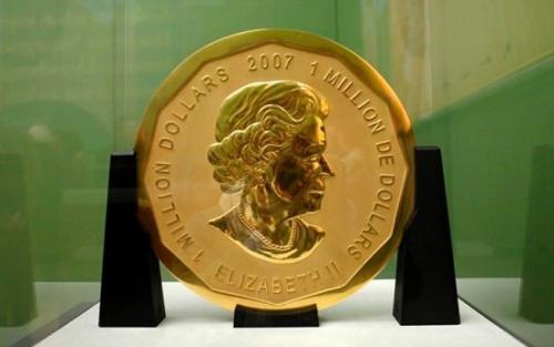 """德国博物馆一枚重达100公斤的""""超级金币""""失窃(图)"""