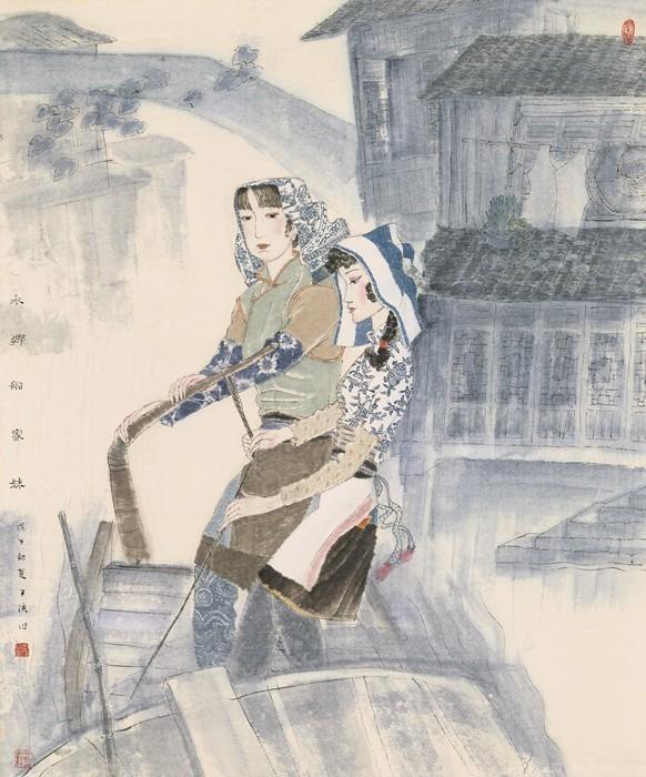 浙派工笔人物画代表人物之一李子侯教授作品鉴赏二