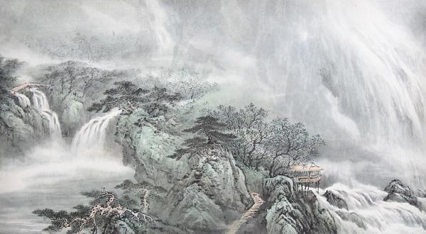 他们国外的人感觉不理解山水画,山水画其实和风景画是两个概念,但是