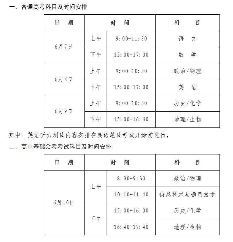 5月5日,记者从海南省考试局获悉,海南省2017年普通高考,高中基础会考图片