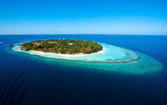马尔代夫椰子岛度假酒店俯瞰