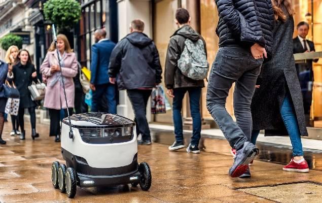 快递小哥不敢看:中日欧美的快递机器人都来了