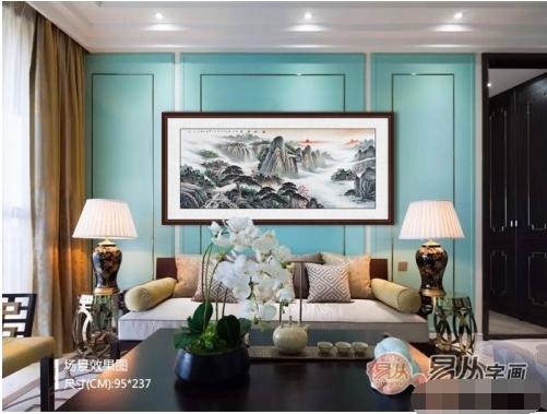 电视墙画选择-客厅电视背景墙挂画 风水可不是闹着玩的