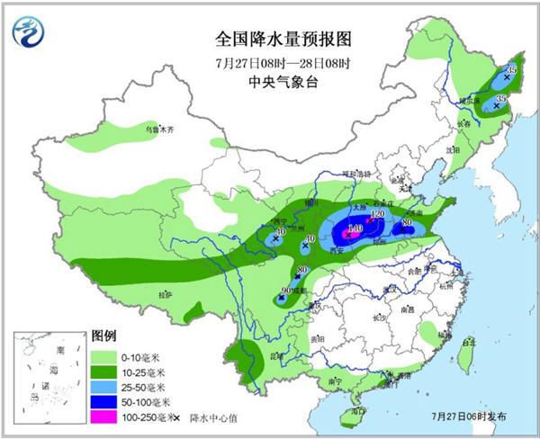 华北黄淮遭强降雨陕西山西山东大暴雨