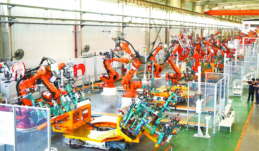 纯电动全铝车身生产线亮相合肥助推汽车行业轻量化发展