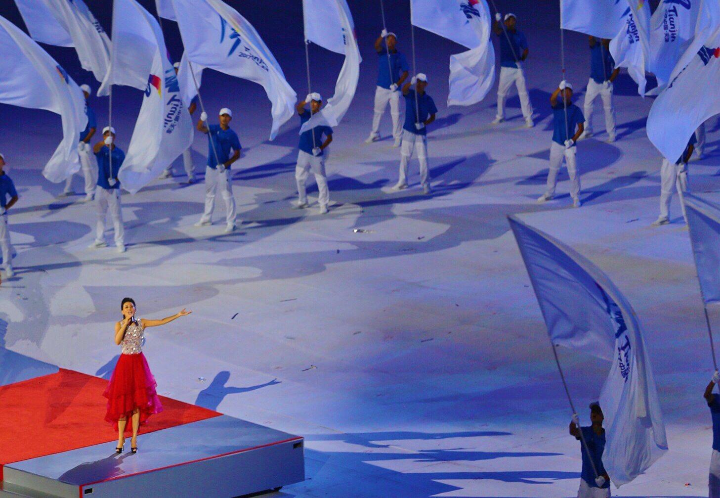 天津女儿 张鹤全运会开幕式向世界唱响 光荣和梦想